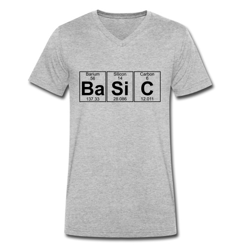Ba-Si-C (basic) - Full - Men's Organic V-Neck T-Shirt by Stanley & Stella