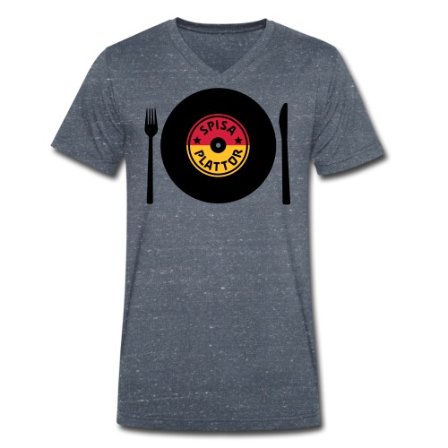 SPISA PLATTOR - Ekologisk T-shirt med V-ringning herr från Stanley & Stella