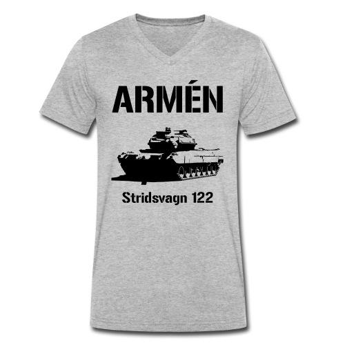 ARMÉN - Stridsvagn 122 - Ekologisk T-shirt med V-ringning herr från Stanley & Stella