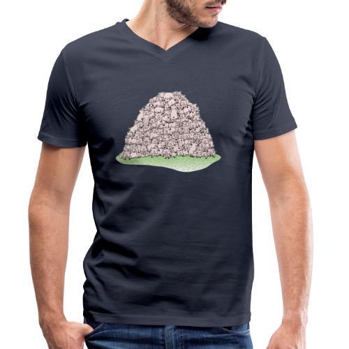 Der Sauhaufen - Männer Bio-T-Shirt mit V-Ausschnitt von Stanley & Stella