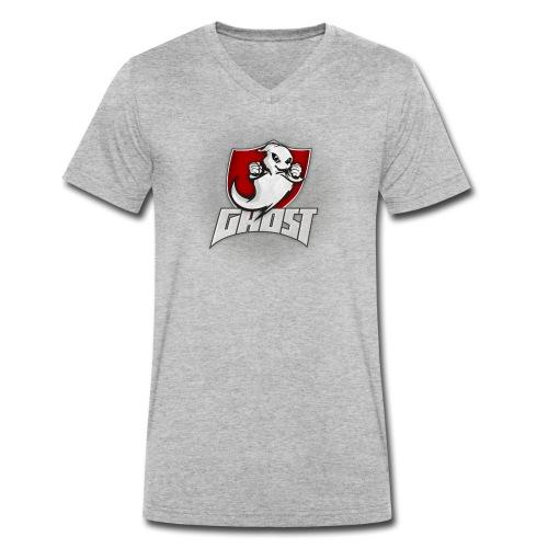 Team Ghost (ohne Strahlen) - Männer Bio-T-Shirt mit V-Ausschnitt von Stanley & Stella