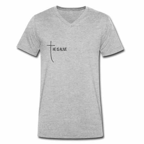 He is alive - Männer Bio-T-Shirt mit V-Ausschnitt von Stanley & Stella