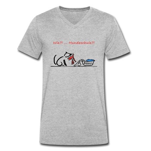 Wie? Hundeschule - Männer Bio-T-Shirt mit V-Ausschnitt von Stanley & Stella