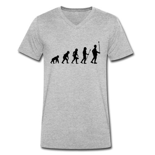 Stabführer Evolution - Männer Bio-T-Shirt mit V-Ausschnitt von Stanley & Stella