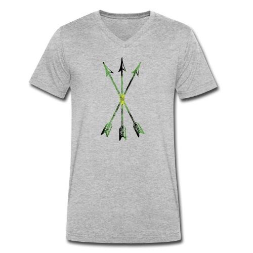 Scoia tael emblem green yellow black - Men's Organic V-Neck T-Shirt by Stanley & Stella
