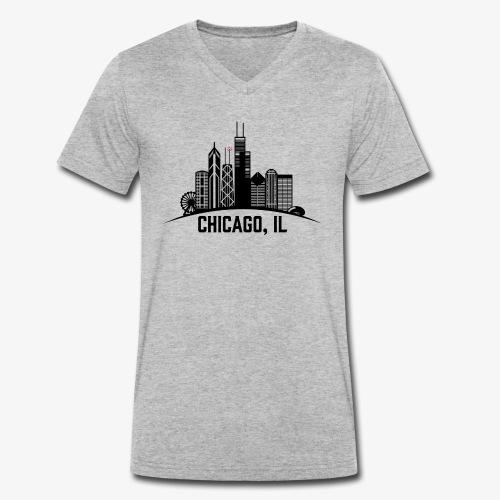 Chicago, IL - Camiseta ecológica hombre con cuello de pico de Stanley & Stella