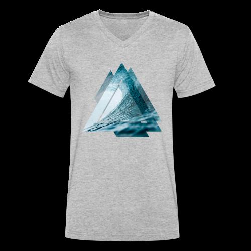 Dreieck Surfer Welle - Männer Bio-T-Shirt mit V-Ausschnitt von Stanley & Stella