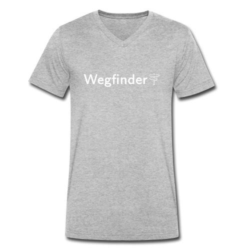 Wegfinder, weiß - Männer Bio-T-Shirt mit V-Ausschnitt von Stanley & Stella