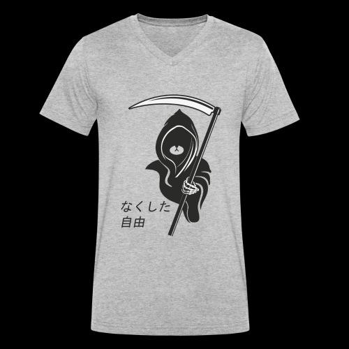 Lost Freedom Reaper - Men's Organic V-Neck T-Shirt by Stanley & Stella