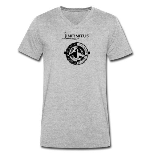 Infinitus stamp schwarz png - Männer Bio-T-Shirt mit V-Ausschnitt von Stanley & Stella