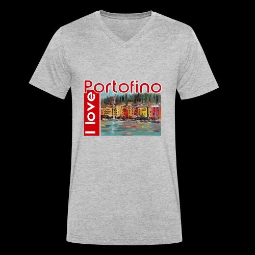 I love Portofino. Italy. - Männer Bio-T-Shirt mit V-Ausschnitt von Stanley & Stella