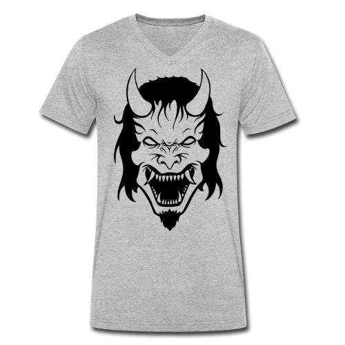 Hannya Demon - Männer Bio-T-Shirt mit V-Ausschnitt von Stanley & Stella