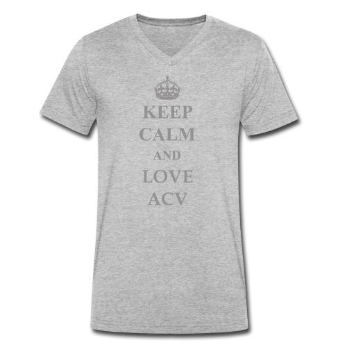 Keep Calm and Love ACV - Schriftzug - Männer Bio-T-Shirt mit V-Ausschnitt von Stanley & Stella