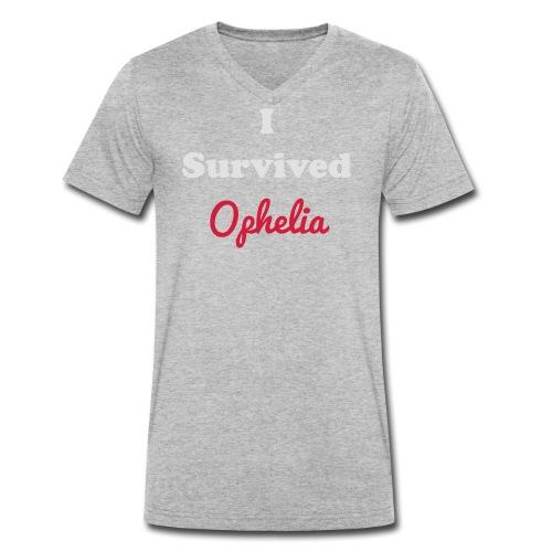 IsurvivedOpheliaWhitered - Men's Organic V-Neck T-Shirt by Stanley & Stella