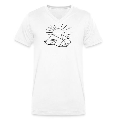 Sonne Wolke - Männer Bio-T-Shirt mit V-Ausschnitt von Stanley & Stella