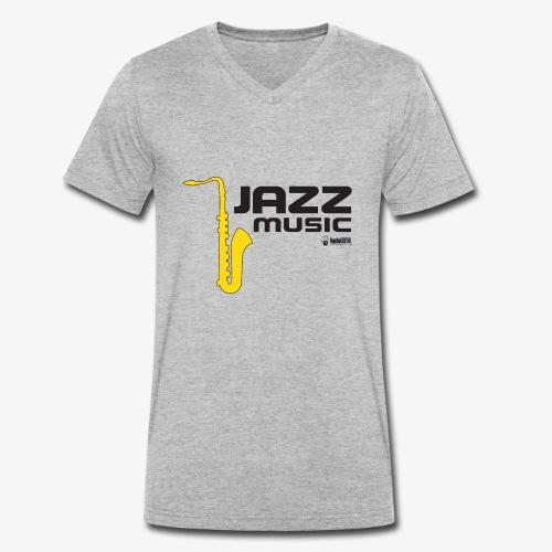 Jazz 002 - Camiseta ecológica hombre con cuello de pico de Stanley & Stella