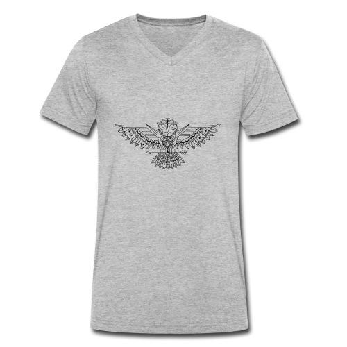 Grafische uil - Mannen bio T-shirt met V-hals van Stanley & Stella