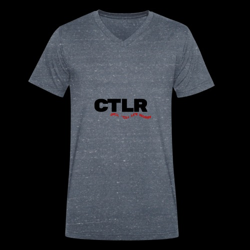 CHILL TIL LATE RECORDS - Men's Organic V-Neck T-Shirt by Stanley & Stella