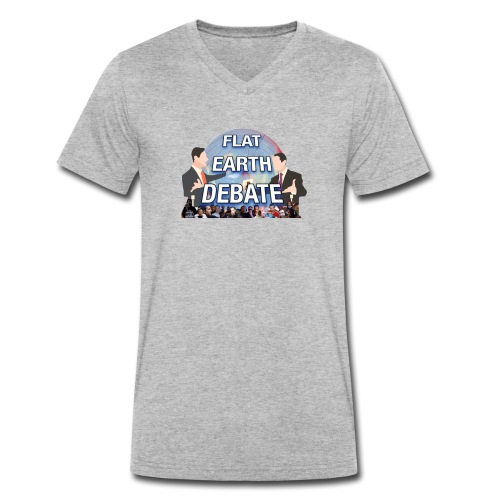 FLAT EARTH DEBATE - Men's Organic V-Neck T-Shirt by Stanley & Stella