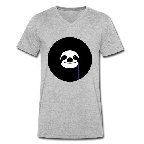 sloth - Men's Organic V-Neck T-Shirt by Stanley & Stella