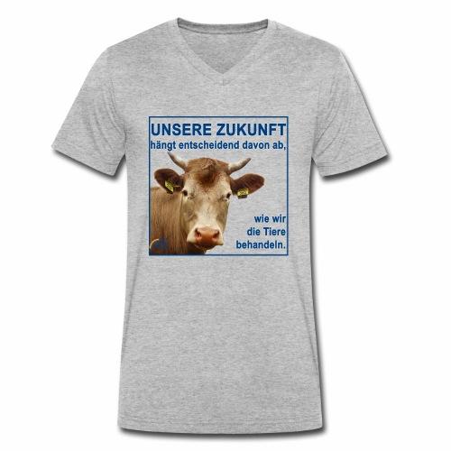 Parteishirt Zukunft - Männer Bio-T-Shirt mit V-Ausschnitt von Stanley & Stella