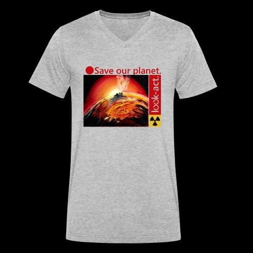 Save our planet. Fukushima Theme - Männer Bio-T-Shirt mit V-Ausschnitt von Stanley & Stella