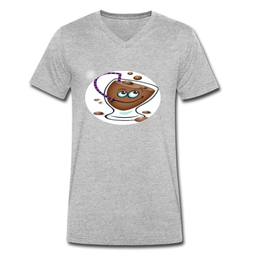 chocolate - Økologisk Stanley & Stella T-shirt med V-udskæring til herrer