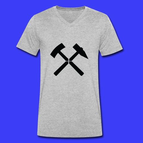 Pałki żelazne - Ekologiczna koszulka męska z dekoltem w serek Stanley & Stella