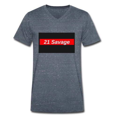 21 Savage - Men's Organic V-Neck T-Shirt by Stanley & Stella