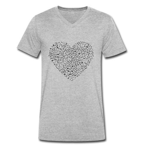 Art of musik - Männer Bio-T-Shirt mit V-Ausschnitt von Stanley & Stella