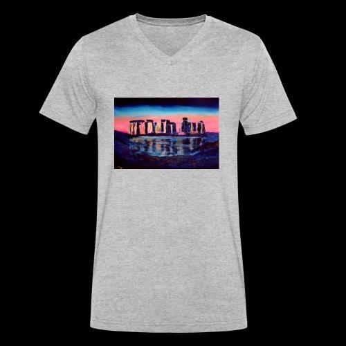 Stonehenge - Männer Bio-T-Shirt mit V-Ausschnitt von Stanley & Stella