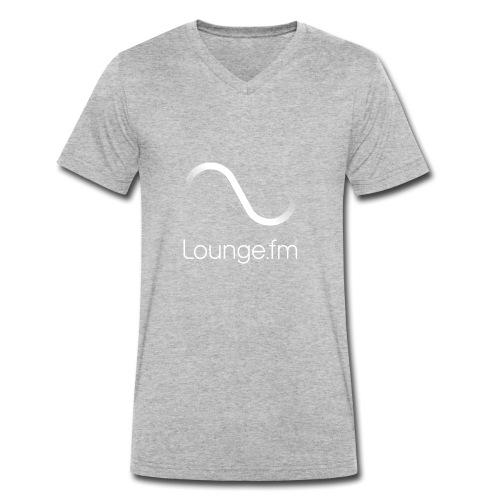 loungefm logo weiss - Männer Bio-T-Shirt mit V-Ausschnitt von Stanley & Stella