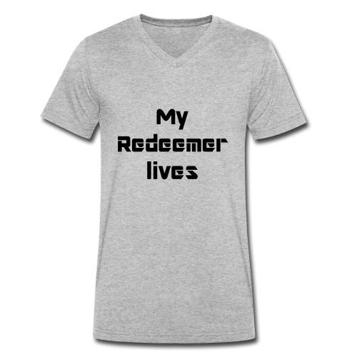 My redeemer lives - T-shirt bio col V Stanley & Stella Homme