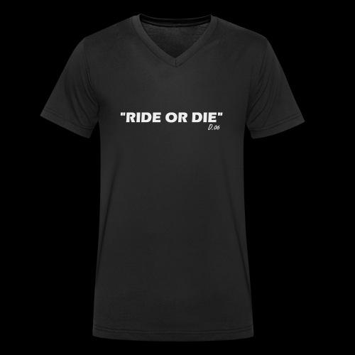 Ride or die (blanc) - T-shirt bio col V Stanley & Stella Homme