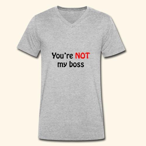 boss - Männer Bio-T-Shirt mit V-Ausschnitt von Stanley & Stella