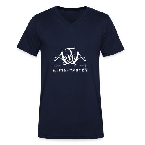 atma wares logo white - Mannen bio T-shirt met V-hals van Stanley & Stella