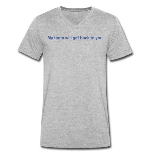 My team will get back to you - Økologisk Stanley & Stella T-shirt med V-udskæring til herrer