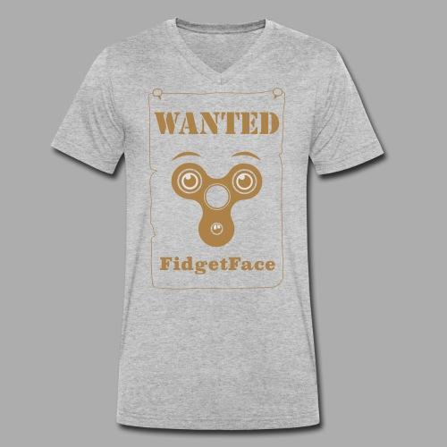 Fidget Spinner Face Wanted - Men's Organic V-Neck T-Shirt by Stanley & Stella