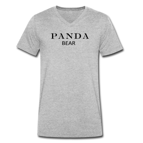 PANDA BÄR - Männer Bio-T-Shirt mit V-Ausschnitt von Stanley & Stella
