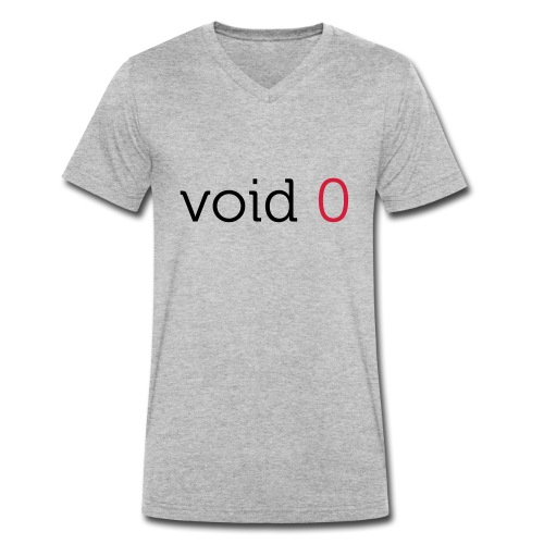 Coders Choice: void 0 Tank Top (male) - Men's Organic V-Neck T-Shirt by Stanley & Stella