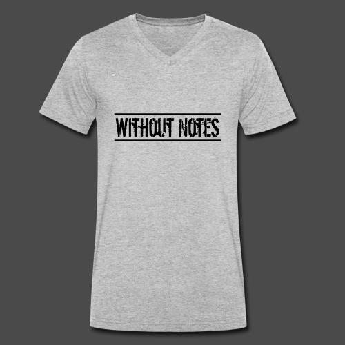 Without Notes Schriftzug Nummer 1 - Männer Bio-T-Shirt mit V-Ausschnitt von Stanley & Stella