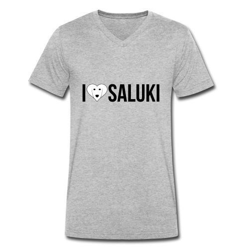 I Love Saluki - T-shirt ecologica da uomo con scollo a V di Stanley & Stella