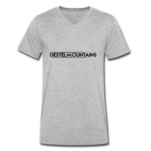 DESTELMOUNTAINS TEKST ZWA - Mannen bio T-shirt met V-hals van Stanley & Stella