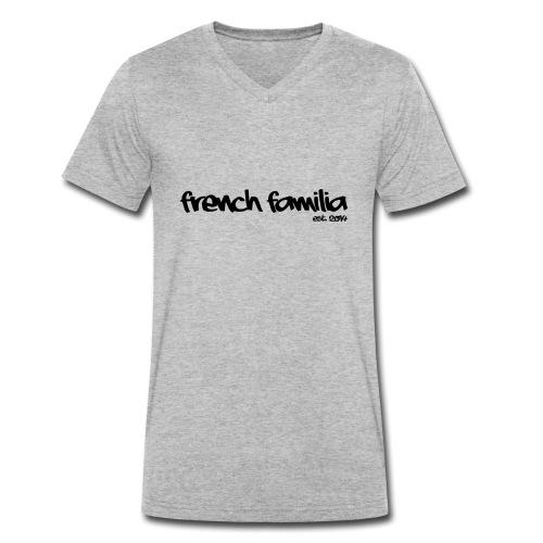 French Familia Schriftzug - Männer Bio-T-Shirt mit V-Ausschnitt von Stanley & Stella