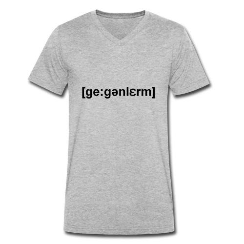 gegenlärm - Männer Bio-T-Shirt mit V-Ausschnitt von Stanley & Stella