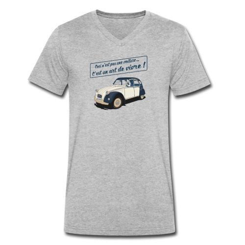 2CV Art de Vivre II - T-shirt bio col V Stanley & Stella Homme