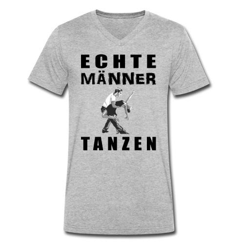 Echte Männer tanzen - Männer Bio-T-Shirt mit V-Ausschnitt von Stanley & Stella