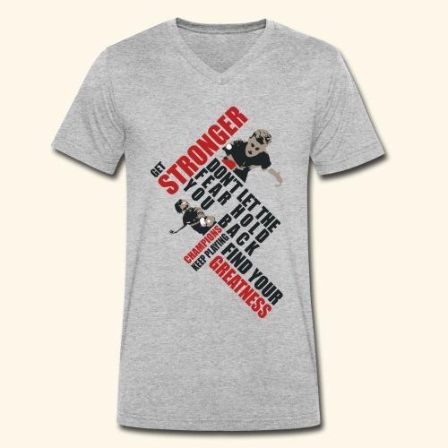 Get Stronger, Don't let the Fear Hold you Back - Männer Bio-T-Shirt mit V-Ausschnitt von Stanley & Stella