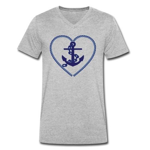 anchor - Anker - Männer Bio-T-Shirt mit V-Ausschnitt von Stanley & Stella