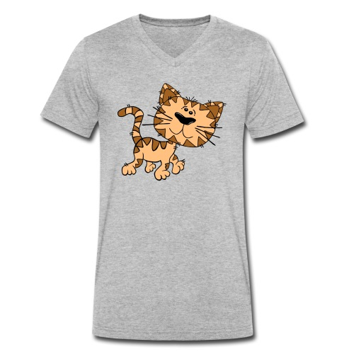 Cat - Männer Bio-T-Shirt mit V-Ausschnitt von Stanley & Stella